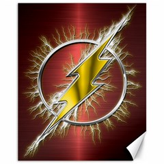 Flash Flashy Logo Canvas 11  x 14