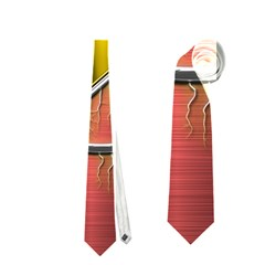 Flash Flashy Logo Neckties (One Side)