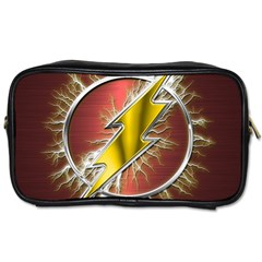 Flash Flashy Logo Toiletries Bags 2 Side