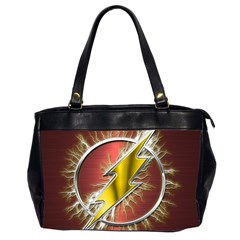 Flash Flashy Logo Office Handbags (2 Sides)