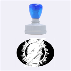 Flash Flashy Logo Rubber Oval Stamps