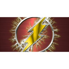 Flash Flashy Logo YOU ARE INVITED 3D Greeting Card (8x4)