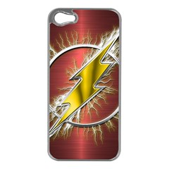 Flash Flashy Logo Apple iPhone 5 Case (Silver)