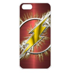Flash Flashy Logo Apple iPhone 5 Seamless Case (White)