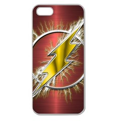 Flash Flashy Logo Apple Seamless iPhone 5 Case (Clear)