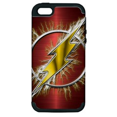 Flash Flashy Logo Apple iPhone 5 Hardshell Case (PC+Silicone)