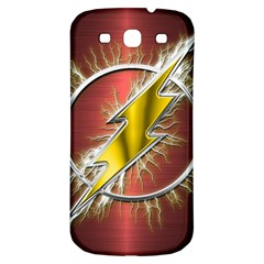 Flash Flashy Logo Samsung Galaxy S3 S III Classic Hardshell Back Case
