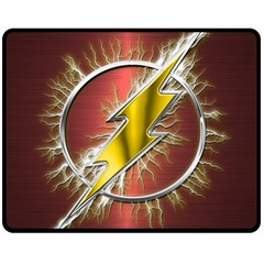 Flash Flashy Logo Double Sided Fleece Blanket (Medium)