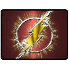 Flash Flashy Logo Double Sided Fleece Blanket (Large)
