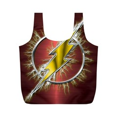 Flash Flashy Logo Full Print Recycle Bags (M)