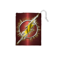 Flash Flashy Logo Drawstring Pouches (Small)