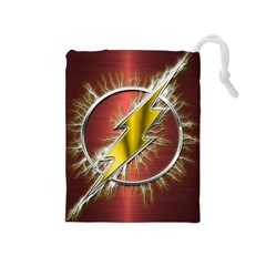 Flash Flashy Logo Drawstring Pouches (Medium)