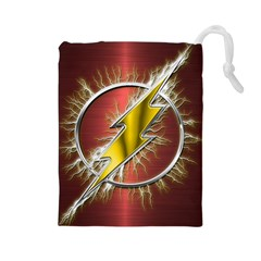 Flash Flashy Logo Drawstring Pouches (Large)