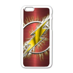 Flash Flashy Logo Apple iPhone 6/6S White Enamel Case