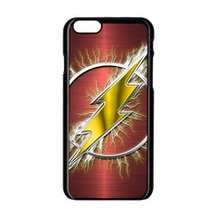 Flash Flashy Logo Apple Iphone 6/6s Black Enamel Case