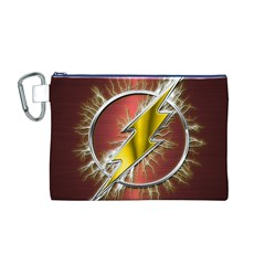 Flash Flashy Logo Canvas Cosmetic Bag (M)
