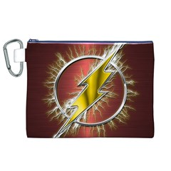Flash Flashy Logo Canvas Cosmetic Bag (XL)