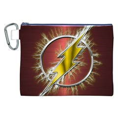 Flash Flashy Logo Canvas Cosmetic Bag (XXL)