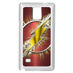 Flash Flashy Logo Samsung Galaxy Note 4 Case (White)