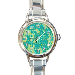 Cyan design Round Italian Charm Watch