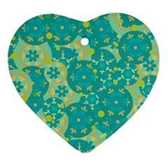 Cyan design Ornament (Heart)