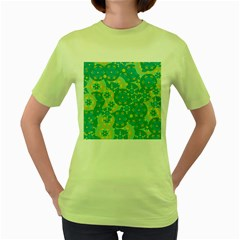Cyan design Women s Green T-Shirt