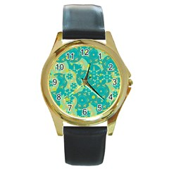 Cyan design Round Gold Metal Watch