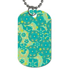 Cyan design Dog Tag (Two Sides)