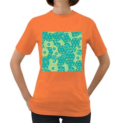 Cyan design Women s Dark T-Shirt