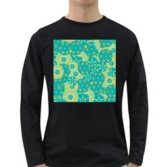 Cyan design Long Sleeve Dark T-Shirts