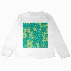 Cyan design Kids Long Sleeve T-Shirts