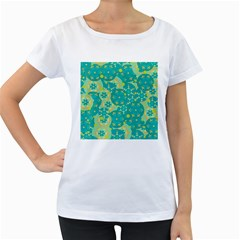 Cyan design Women s Loose-Fit T-Shirt (White)
