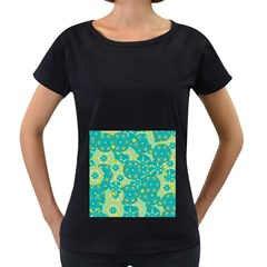 Cyan design Women s Loose-Fit T-Shirt (Black)