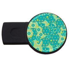 Cyan design USB Flash Drive Round (4 GB)