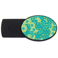 Cyan design USB Flash Drive Oval (4 GB)