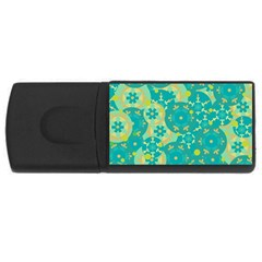 Cyan design USB Flash Drive Rectangular (4 GB)