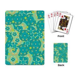 Cyan design Playing Card