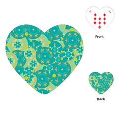 Cyan design Playing Cards (Heart)