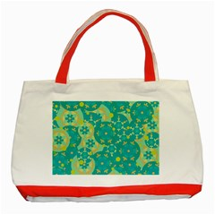 Cyan design Classic Tote Bag (Red)
