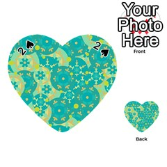 Cyan design Playing Cards 54 (Heart)