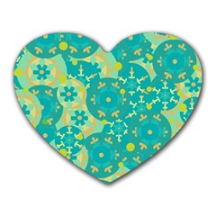 Cyan design Heart Mousepads