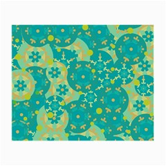 Cyan design Small Glasses Cloth (2-Side)