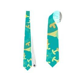 Cyan design Neckties (Two Side)