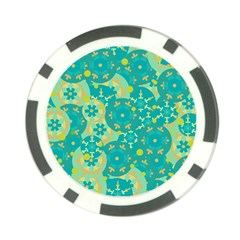 Cyan design Poker Chip Card Guards