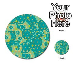 Cyan design Multi-purpose Cards (Round)