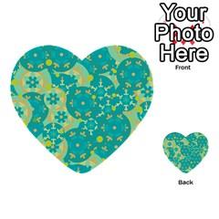 Cyan design Multi-purpose Cards (Heart)