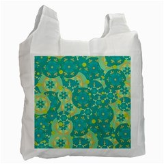 Cyan design Recycle Bag (One Side)