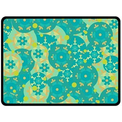 Cyan design Fleece Blanket (Large)