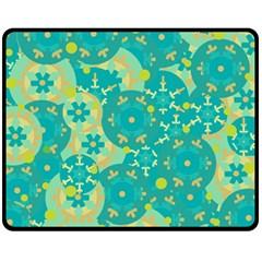Cyan design Fleece Blanket (Medium)