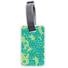 Cyan design Luggage Tags (One Side)